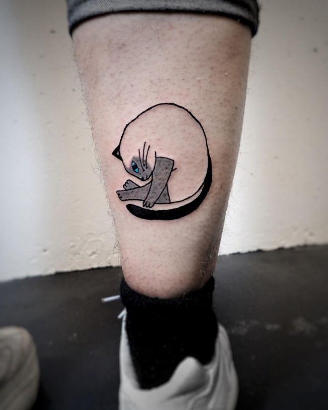 Котик на ноге