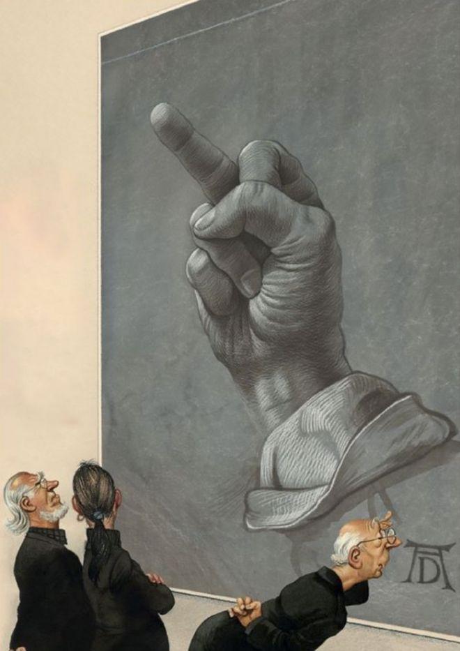 Абсурдные и честные иллюстраций о болезнях общества