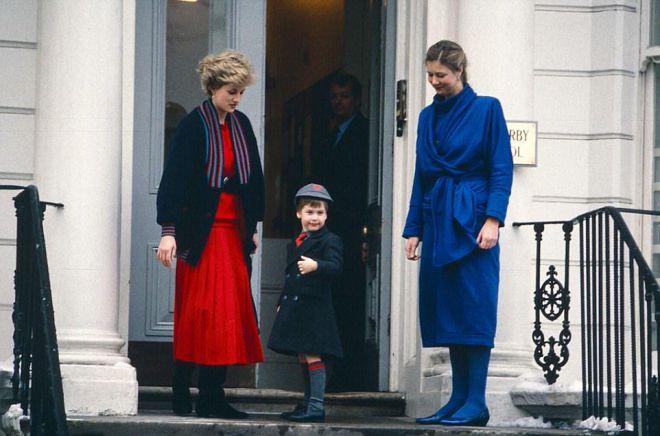 Принцесса Диана с принцами Уильямом в 1987 году