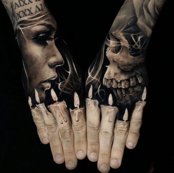 Пальцы как свечи
