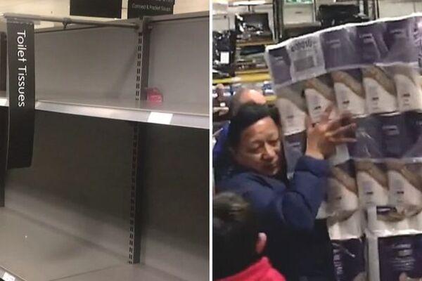 Покупка туалетной бумаги