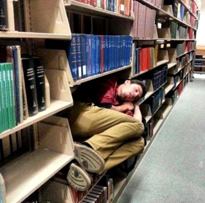 Смешные картинки в библиотеке