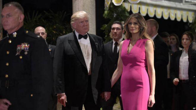 Президент США Дональд Трамп с супругой Меланией Трамп