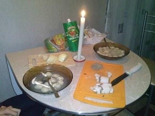 Еще одна интерпретация ужина при свечах «по-быстрому»