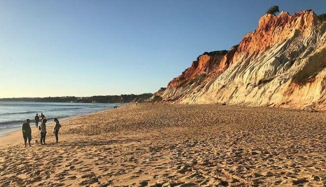 Португалия, пляж Фалезия Бич