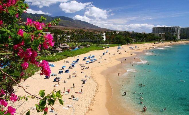 Гавайи, пляж Каанапали Бич