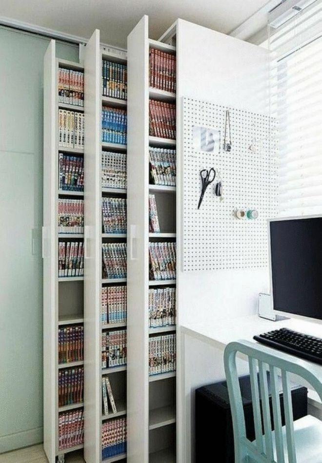 2. В квартире много книг