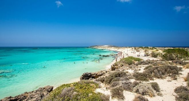 Греция, пляж Элафонисси