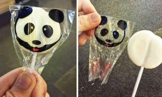 4. Так захотелось порадовать ребенка леденцом в виде панды