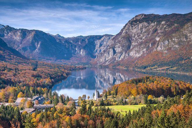 Озеро Бохинь - осенью