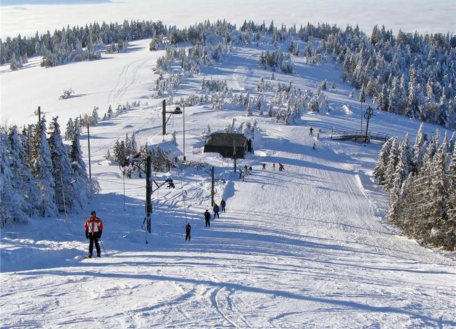 В Мариборском Похорье есть горнолыжные трассы разной сложности