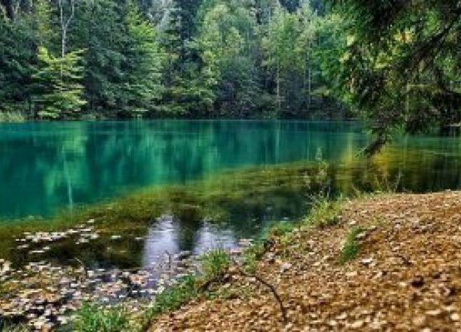 Разноцветные озера в Польше