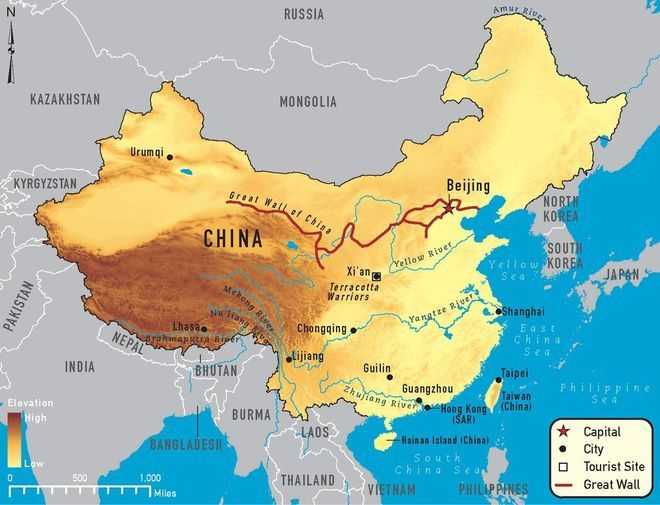 Общая характеристика рек в Китае