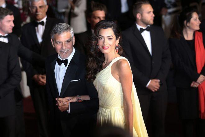 Джордж и Амаль Клуни в Каннах в 2016 году