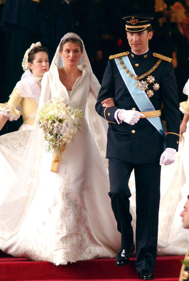 Королева Летисия в день свадьбы