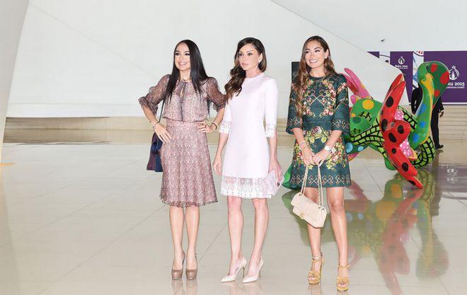 Мехрибан Алиева с дочерьми