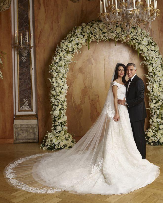 Свадебное фото Амаль и Джорджа Клуни