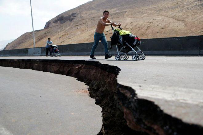 Разлом дороги в Чили