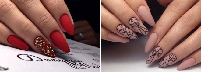 идеи маникюра на острые ногти