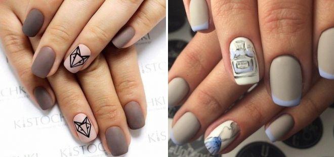 модные матовые ногти 2018