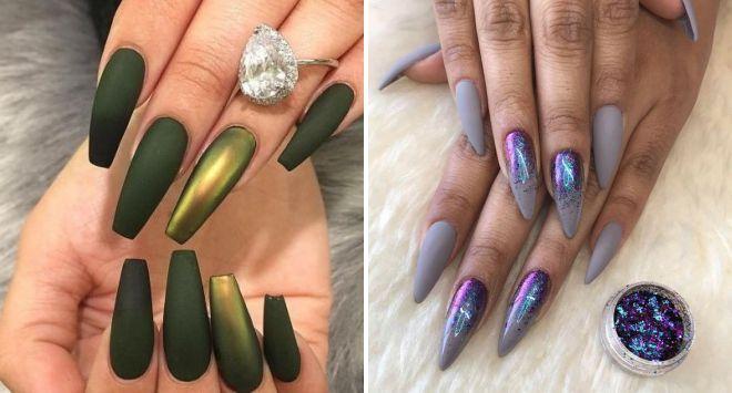 матовые ногти 2018 модные идеи