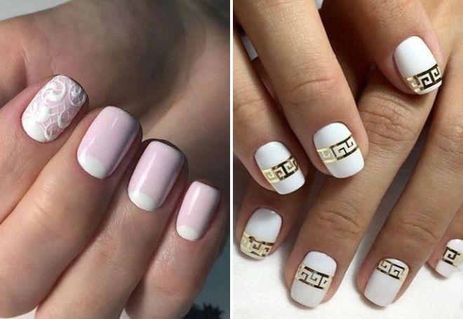 свадебный маникюр 2018 на короткие ногти