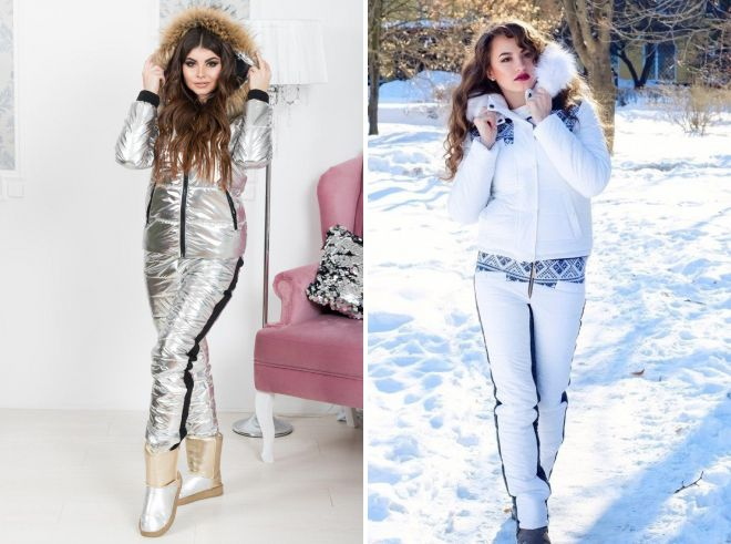 женский белый зимний костюм 2018