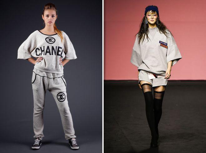 брендовые белые спортивные костюмы