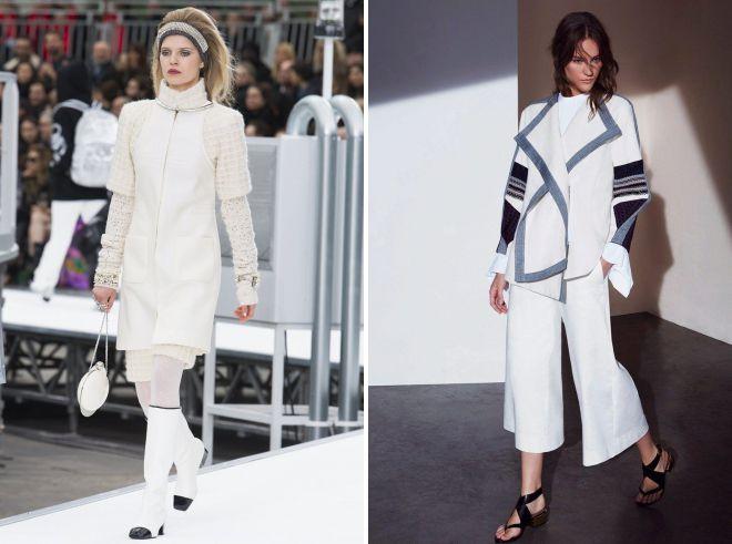 образы с женским белым костюмом 2018