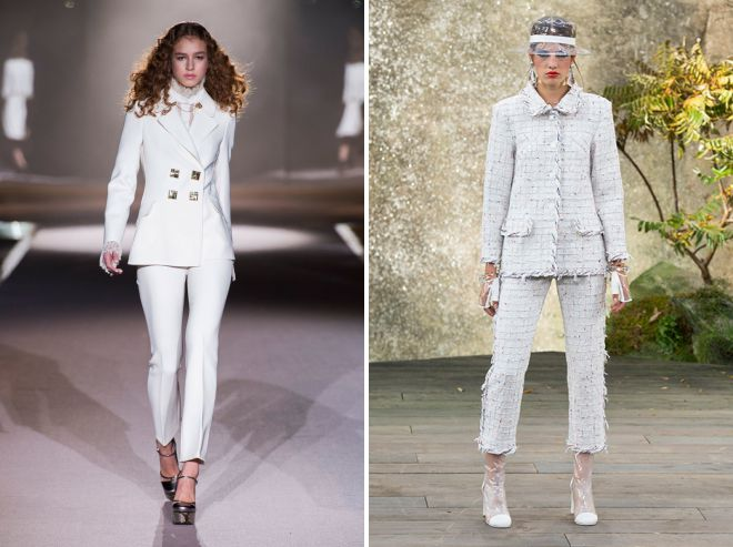 модный белый костюм 2018