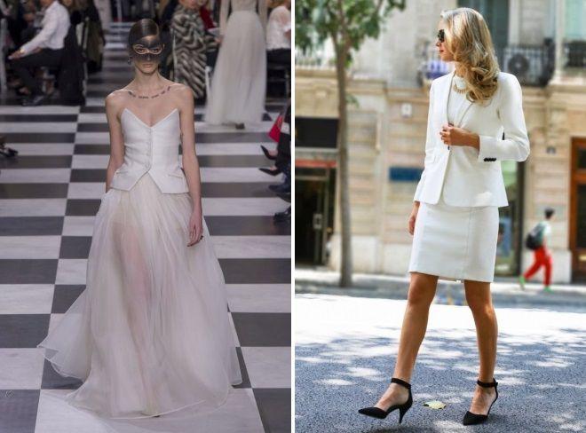 женские костюмы белого цвета