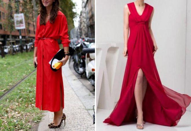 туфли под красное платье в пол