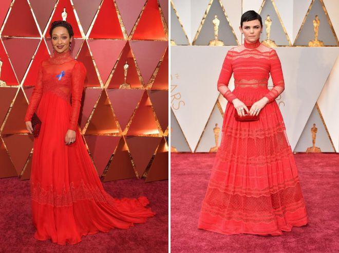 длинные красные платья на красной дорожке