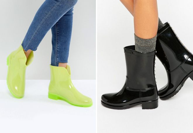 модная резиновая обувь для женщин