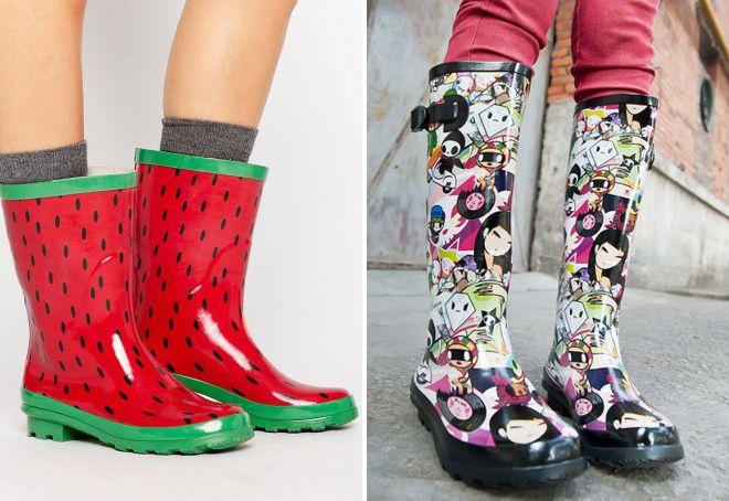 резиновая обувь сапоги для женщин