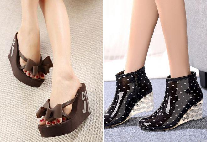 женская резиновая обувь