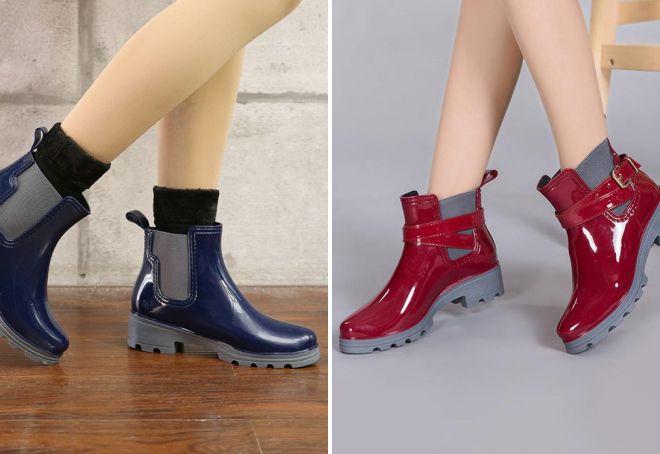 стильная резиновая обувь для женщин