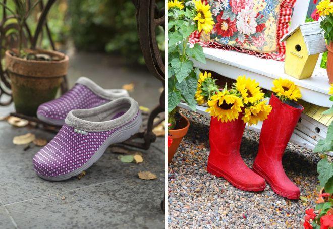 резиновая обувь для дачи и сада