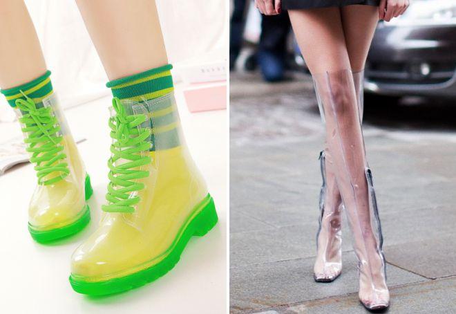 модная резиновая обувь
