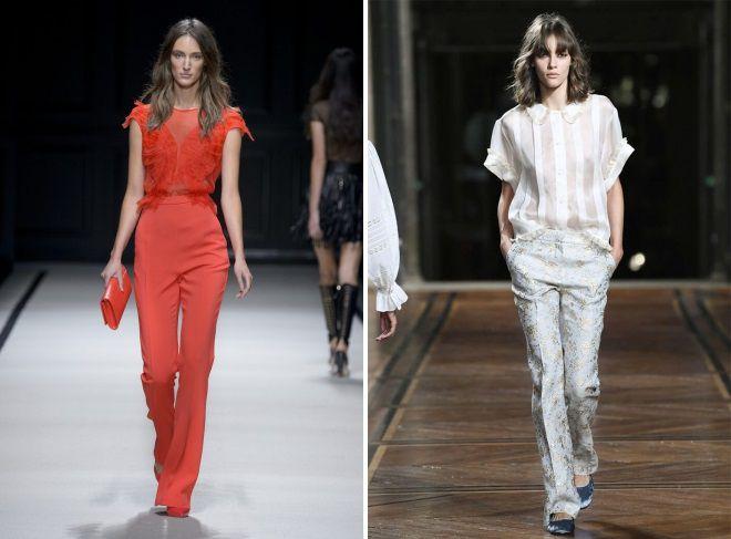 летние классические женские брюки