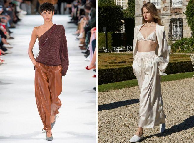 женские легкие брюки на лето на резинке