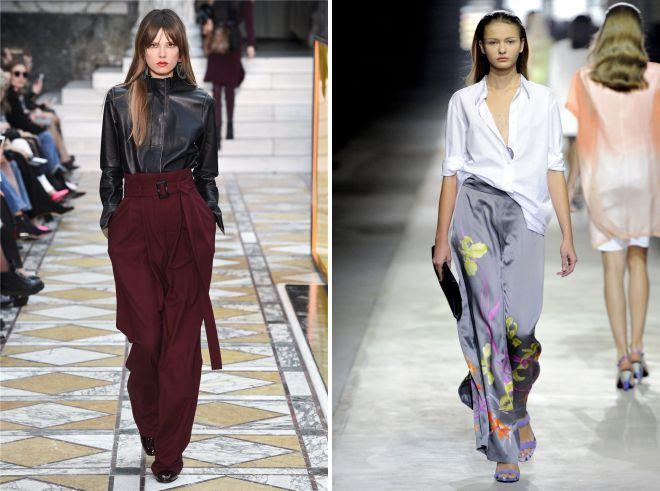 женские летние широкие брюки
