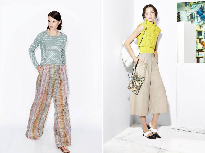 женские летние льняные брюки