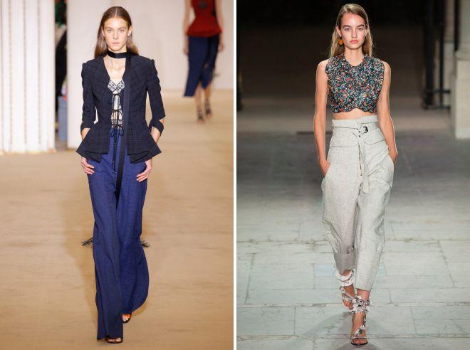 женские летние брюки из льна