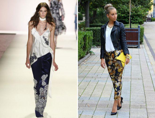 женские летние цветные брюки