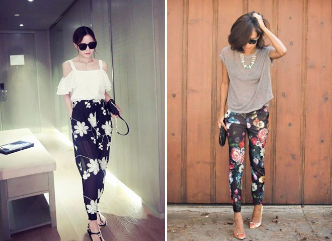 женские летние цветные брюки 2018