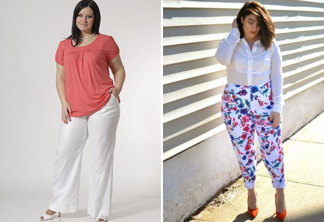 женские летние белые брюки