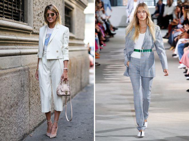 летние образы с женскими брюками