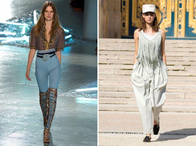 стильные летние образы с женскими брюками