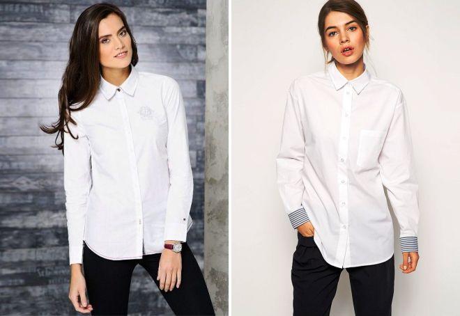 cdf41fd8eb8 Стильная женская белая рубашка – классическая